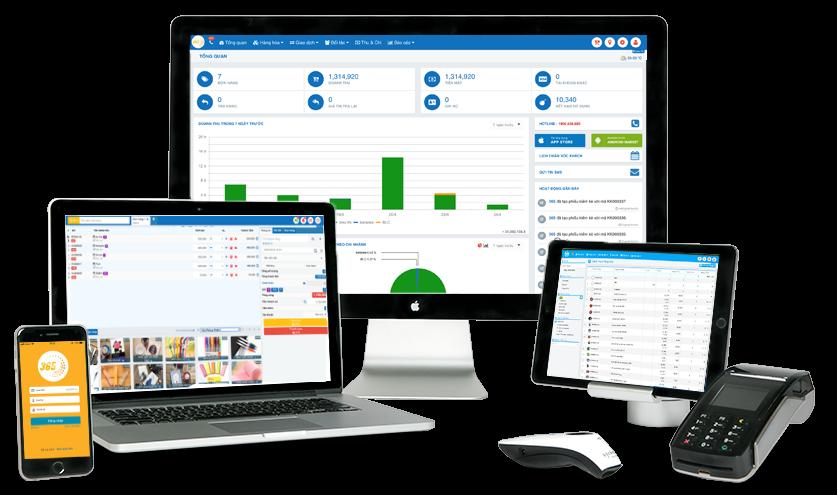 Sử dụng phần mềm quản lý bán hàng trên nhiều thiết bị khác nhau